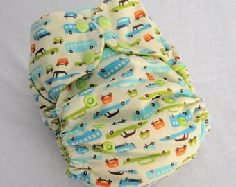 Retro Cars - One Size Pocket Cloth Diaper