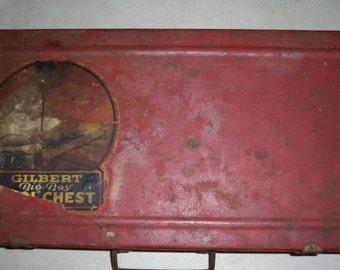Vintage 1950's Gilbert No.2 Big Boys Metal Tool Chest