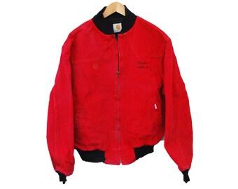 """Vintage CARHARTT Jacket Chore Blanket Lined - L 42"""" (26033)"""