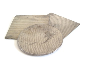 Asbestos Hot Pad Pro-Tex Trivet Round Square 1950s Kitchen Items Food Photography Props