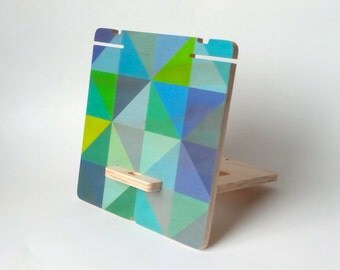 Objectify Blue and Green Grid Print Stuff Stand