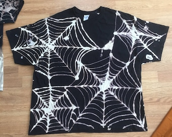 3XL Spiderweb tee in black and white