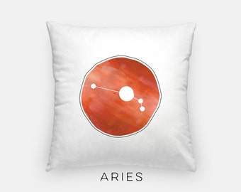 Aries art pillow | zodiac pillow | Zodiac decor | Aries star sign pillow | modern zodiac pillow | March birthday gift | April birthday gift