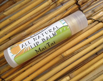 THREE Tropical Mai Tai Lip Balm Organic Beeswax-Made in Hawaii