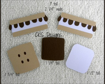 Die Cut S'mores Smores Scrapbook Page Embellishments for Card Making Scrapbook or Paper Crafts