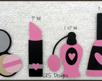 Die Cut Makeup Perfume Nail Polish Premade Paper Piecing Embellishment for Card Making Scrapbook or Paper Crafts
