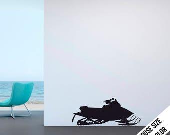 Snowmobile Wall Decal - Vinyl Sticker