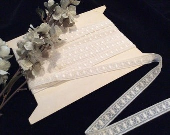 Vintage Sheer Nylon Embroidered Lace, Vintage Lace, Embroidered Lace, Bridal Lace, Wedding Lace, Vintage Sewing Supplies, Craft Supplies