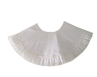 Collar White Cotton Linen Lace Trim