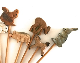 Vintage wooden picks