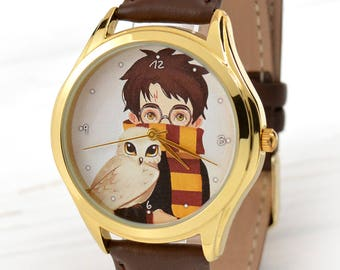 Harry Potter Watch | Book Lover Gift | Unique Gift for Sister | Harry Potter Jewelry | Brother Gift | School Graduation Gift | FREE SHIPPING