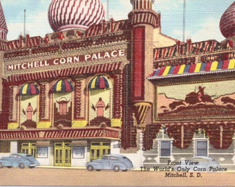 Mitchell, South Dakota, Corn Palace - Linen Postcard - Unused (E)
