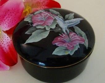 Hummingbird Trinket Box Otagiri Jewelry Box Keepsake Collectible