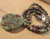 RiservedForC. African Bloodstone Garnet NECKLACE: living life to the fullest