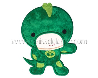 Gekko Boy Applique Design