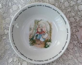 Wedgwood Beatrix Potter Peter Rabbit China Bowl, Wedgwood Kids Bowl