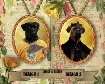 Cane Corso Jewelry. Cane Corso Pendant or Brooch. Cane Corso Necklace. Cane Corso Portrait. Custom Dog Jewelry by Nobility Dogs.