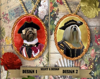 Lhasa Apso Jewelry. Lhasa Apso  Pendant or Brooch. Lhasa Apso Necklace. Lhasa Apso  Portrait. Custom Dog Jewelry.Dog Handmade Jewelry