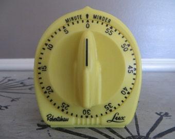 Robertshaw Lux Kitchen Timer 60 Minute Timer Yellow Gold Timer Vintage Kitchen Kitchen Clock Retro Kitchen Kitchen Gadgets