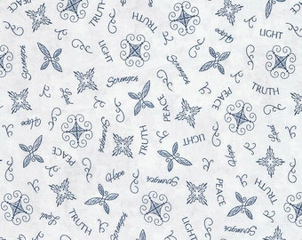 Inspired journey tossed faith words in navy by Wing and A Prayer designs JT C5246