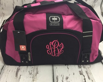 Monogrammed Gym Bag Personalized Duffel Dym Duffle Pink Workout Many