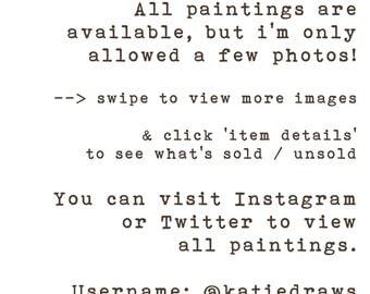ORIGINALS of Katiedraws' 100 Day Project