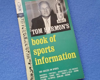 Tom Harmon's book of sports information, 1001 quizzes on sports - vintage book 1963