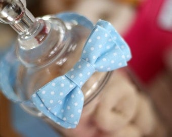 Baby Blue Dot Boys Bow Tie