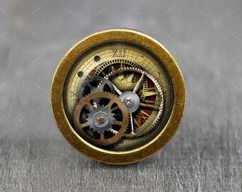 Nice Steampunk Gear Glass Cabochon Bronze Cabinet Dresser Knobs Pull / Dresser  Pull / Cabinet Knobs /