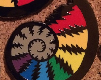 Ammonite Lightning Bolt Grateful Dead Hat Pin