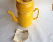 General Housewares Corp Enamelware Yellow Finesse Drip Coffee Maker, Enameled Steel, Hygge, Pour Over Coffee