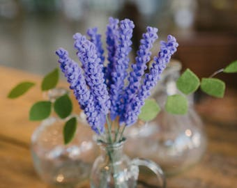 Single Stem Felt Lavender