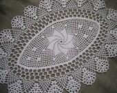 Crochet Table Runner. cotton home decor. Lace crochet doily, table runner. rectangle doily. READY TO SHIP.