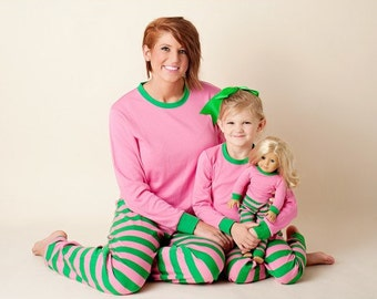 Matching Mommy & Me Pajamas ~ Mom and Daughter PJs ~ FREE Personalization ~ Quick Shipping