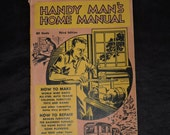 1936 Handy Man's Home Manual Book Build a Radio All Steel Auto Trailer Furniture Toys Games Air Conditioner