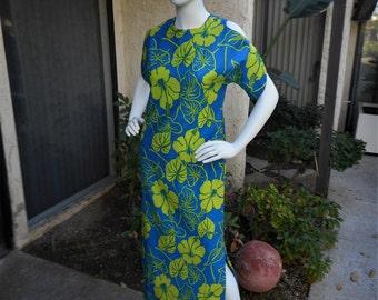 Vintage  1960's Tiki Surfah Hawaiian Style Dress - Size 10