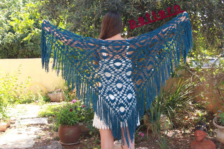Fringed shawl crochet pattern triangular shawl pdf advanced zoom bankloansurffo Image collections
