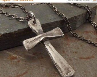 SPRING SALE 25% OFF Sterling Silver Cross Jewelry Handmade Necklace for Men or Women