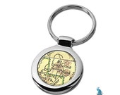 Map Keychain Sedona Arizona Key Ring Fob