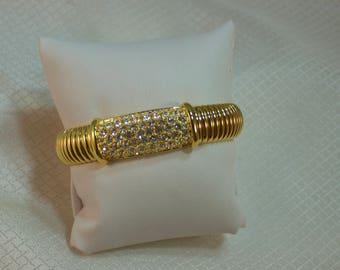 Joan Rivers Pave Rhinestone Gold Mesh Stretch Fashion Bracelet
