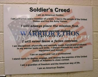 American Soldiers Creed Sign Photography, US Military Armed Forces Army National Guard Creed Photo Image, Digital Download itsyourcountry