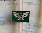 Felt Tri-Force on Alligator Clip - Legend of Zelda Clip -Embroidered Felt - Hair Clip