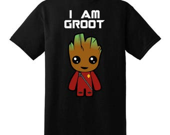 Black I Am Groot Childrens T-shirt