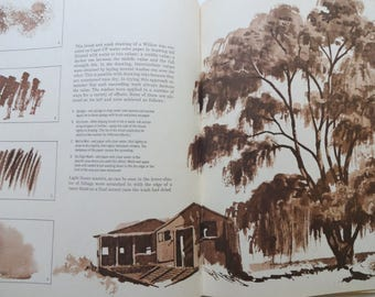Vintage The Art of Drawing Trees Book 1966