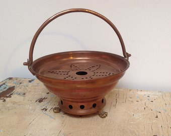 Vintage Dutch copper teapot warmer