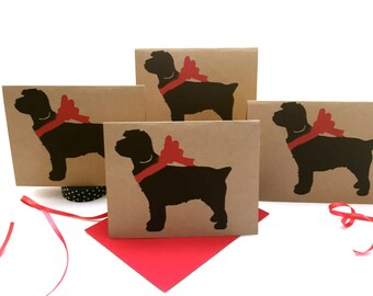 Cockapoo Card Set % ANIMAL RESCUE ECO Friendly Pack Blank Cards Holiday Cockapoodle Thank You Birthday Christmas Gift Wrap Red, pet sympathy
