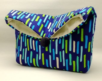 Foldover clutch, Fold over bag, clutch purse, evening clutch, wedding purse, bridesmaid gifts - Nice pattern (Ref. FC40 )