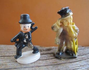 Pair of chimney sweep figurines / Marx Toy Figurine / Goebel chimney sweep