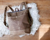 Waxed Canvas Zippered Backpack | Rust Brown