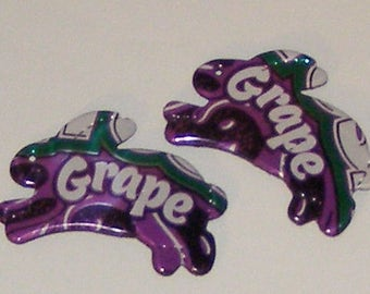 2 Bunny Magnets - Grape Crush Soda Can